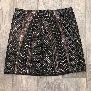 LULUS steal the spotlight gunmetal skirt
